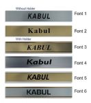 Kabul Clock Name Plate |World Time Zone City Wall clocks Sign custom Plaque